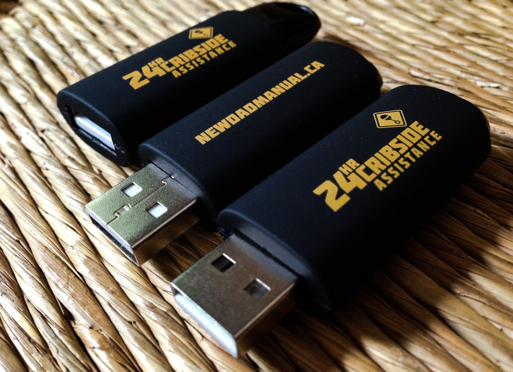 Custom designed retractable USB key that includes all the videos from the site