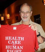 MVHCA president Bud Laurent, plus red tee-shirt.
