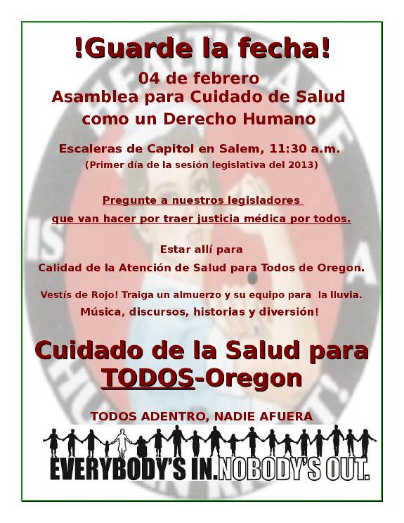 Asamblea para Cuidado de Salud 04 de febrero