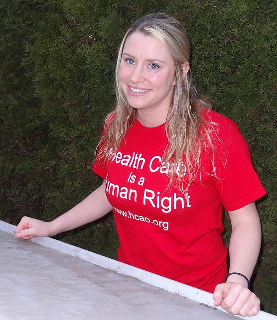 Jessica Hoffman, rally organizer