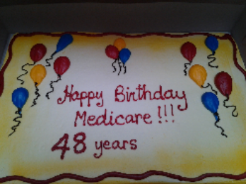 Cake provided by Alliance for Retired Americans.