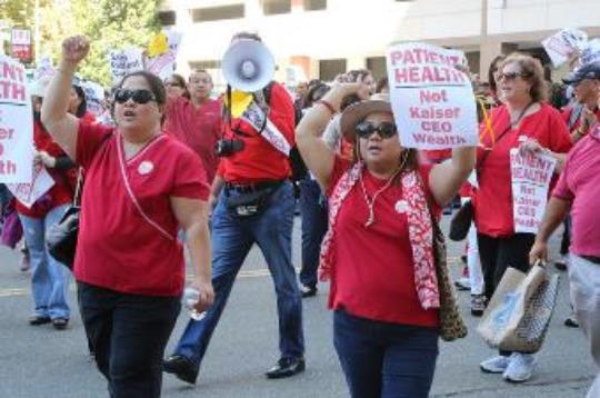 Be Wary of Insurers Who Limit Access to Hospital, Nursing Care Rallies at Kaiser Hospitals in Oakland, Modesto, Sacramento
