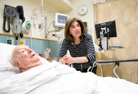Dr. Suzanne Salamon, with a patient at Beth Israel Deaconess Medical Center in Boston, said she has had trouble filling a prestigious fellowship because of relatively low salaries. Katherine Taylor for The New York Times