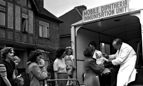 An NHS immunization van in the 50s. Photograph: Popperfoto