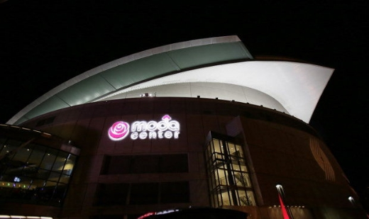 The Moda Center arena is shown before an NBA basketball game between the Chicago Bulls and the Portland Trail Blazers in November 2013. (AP Photo/Don Ryan)