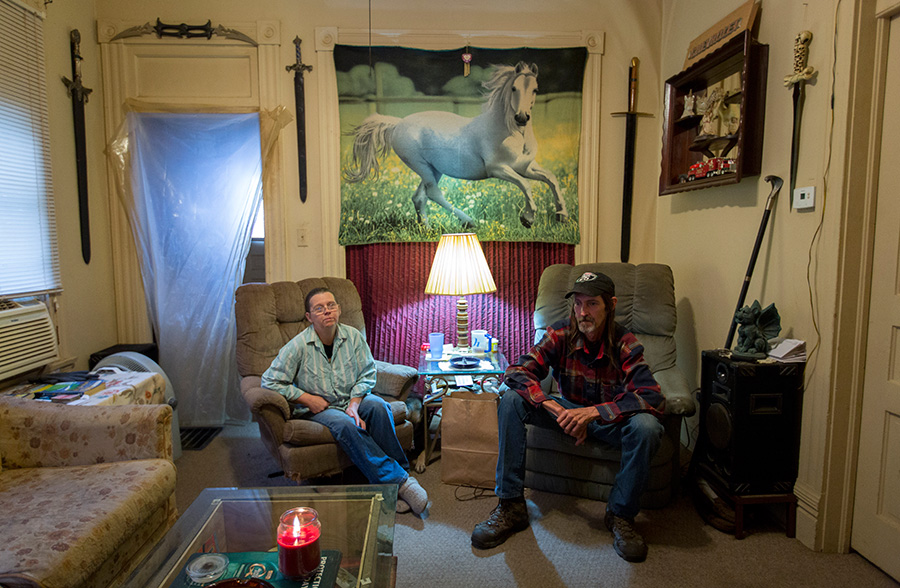 """We're living paycheck to paycheck,"" said Tammy Berry. She and her husband, Keith, were first sued by Northwest in 2009. (Steve Hebert for ProPublica)"