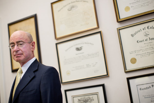 Caption: Daniel Levinson, inspector general for the Department of Health and Human Services, at his office in Washington. Credit Drew Angerer for The New York Times