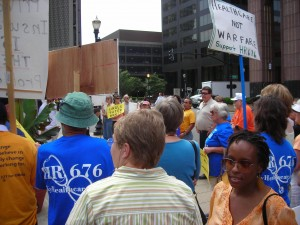 Demonstration at Humana corporate headquarters, Louisville, KY