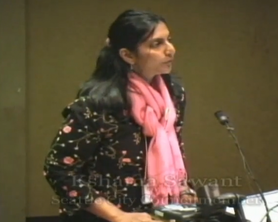 Obamacare critic Kshama Sawant spoke at the annual meeting of Western Washington Chapter of Physicians for a National Health Program Credit: Credit: Western Washington Chapter of Physicians for a National Health Program