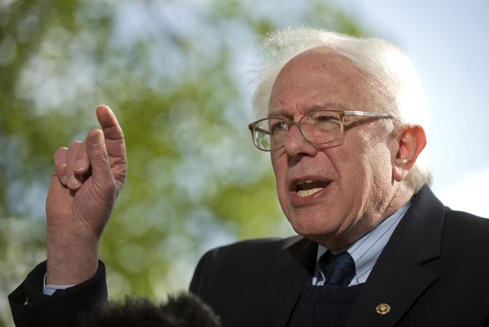 US Senator Bernie Sanders of Vermont