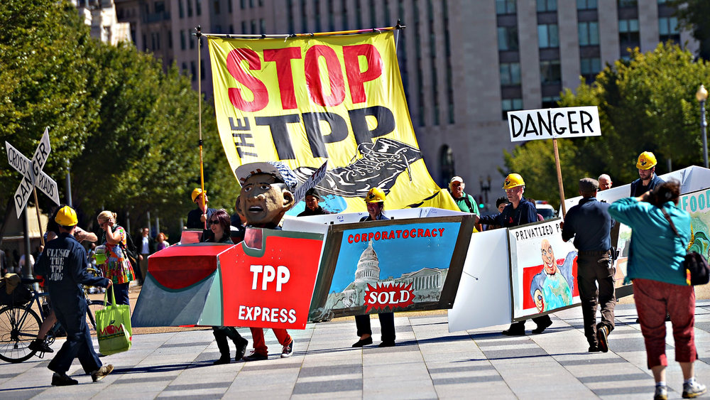 "The current debate over the TPP is a secretly negotiated deal that is the complete opposite of ""liberal"" reform, even though it is trying to be passed off as such. We have got to stand together and get rid of this corrupt agenda."