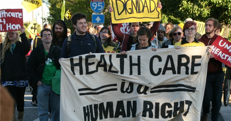 Maryland residents march for the human right to health care in October 2013. (Photo: United Workers/flickr/cc)