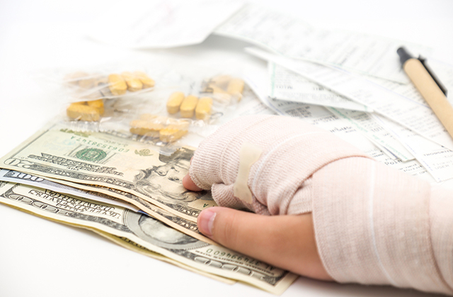 Crowd-funding for debt relief is becoming an increasingly popular trend. (Photo: Medical Bills via Shutterstock)