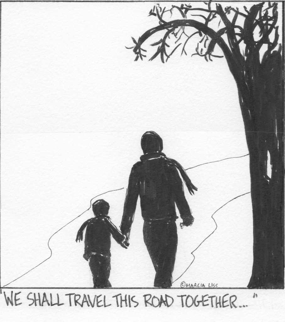 The road just got longer and harder for families of children with special needs. Cartoon by Marcia Liss