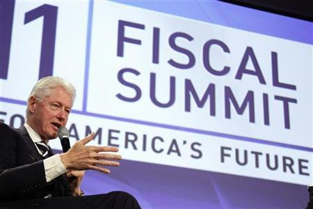 Former U.S. President Bill Clinton speaks at the 2011 Fiscal Summit on Solutions for America's future in Washington, May 25, 2011. Reuters/Jason Reed