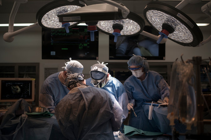 A mitral valve repair being performed at the Cleveland Clinic. Operations like this have felt the effects of drug shortages. Credit Andrea Bruce for The New York Times