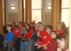 HCAO advocates      at Portland City Council hearing