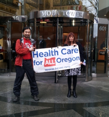 Hyung Kyu Nam and Lisa Stiller protest Moda rate increases and decline in service