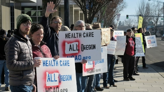 Save Our Health Care Rally, Medford 2017