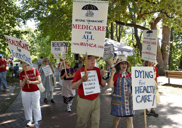 MidValley Health Care Advocates on the march for Medicare in 2015!