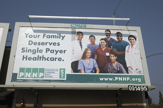 PNHP Creates Single Payer Billboard in Portland