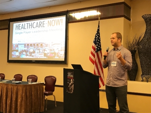 Ben Day, Director of HealthCare Now, kicks off conference