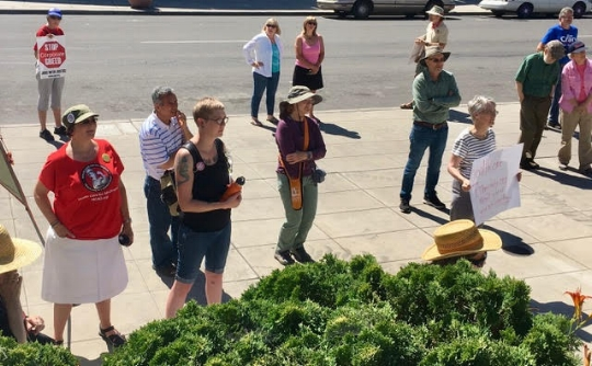 HCAO activists hit the streets in Klamath Falls