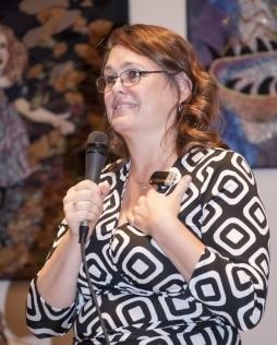 Sen. Sara Geiser at MVHCA Legislative Forum  Photo by Ricardo Small