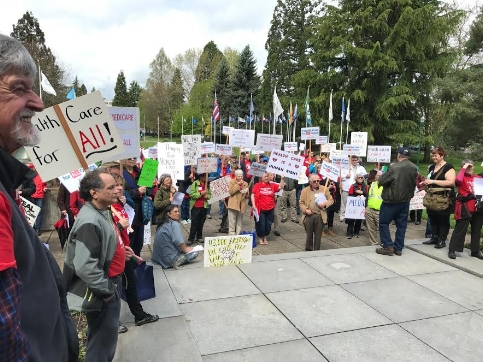 HCAO rally at the capitol in Salem