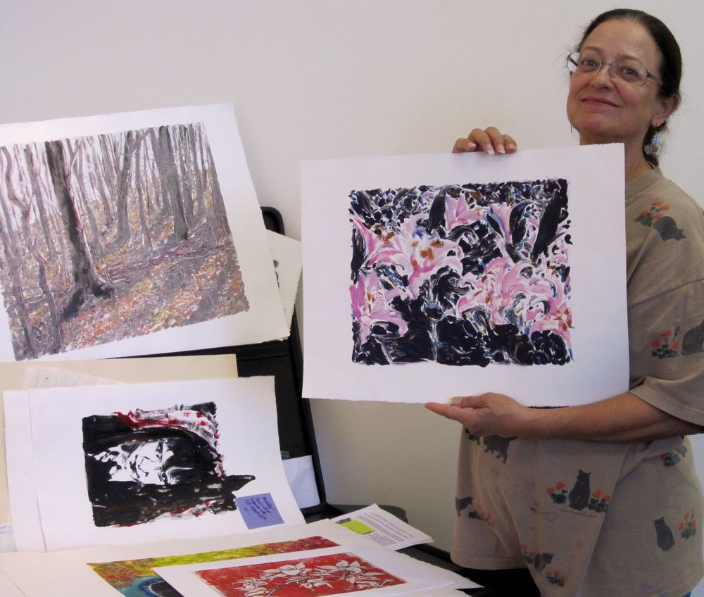 Monoprinting Workshop by Connie Faddis