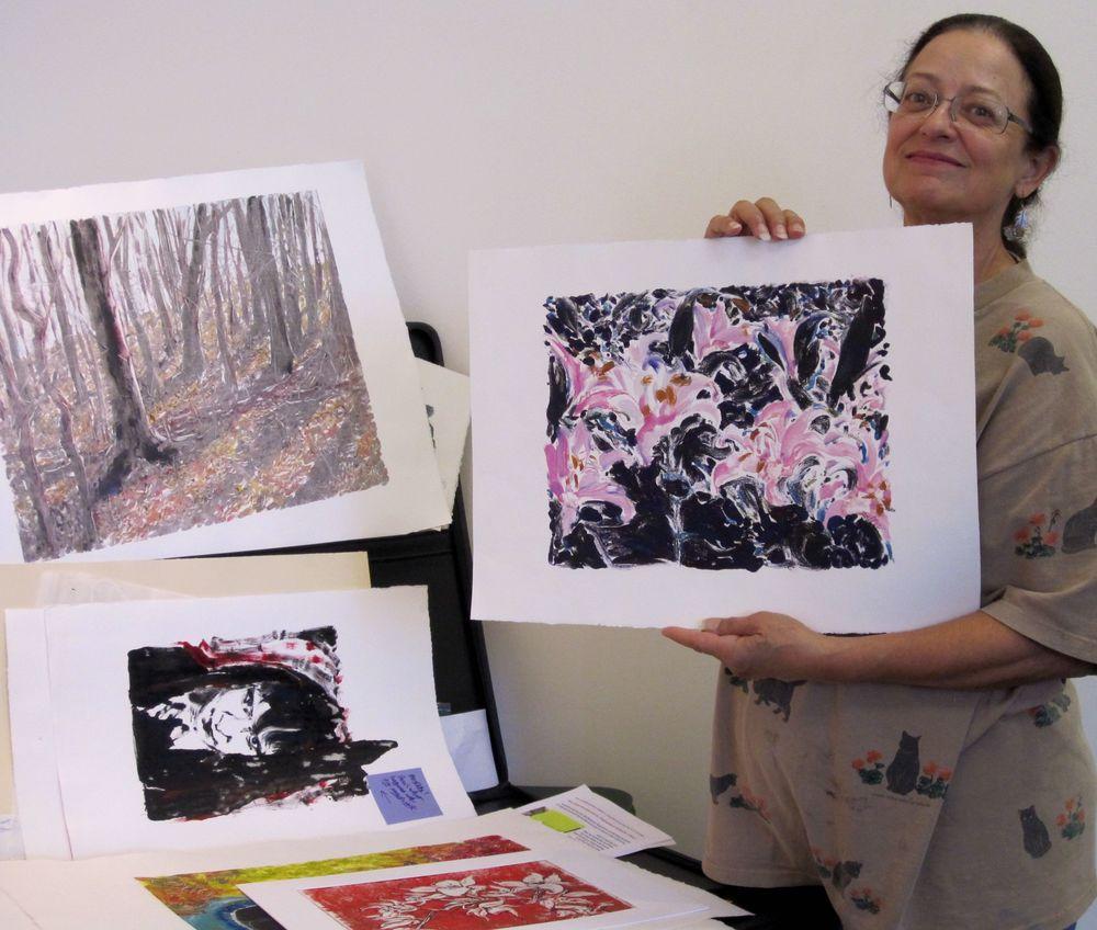 Monoprinting Workshop by Connie Faddis