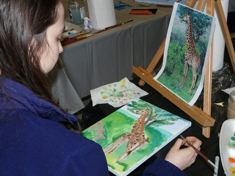 Using a photo as a model for an acrylic painting