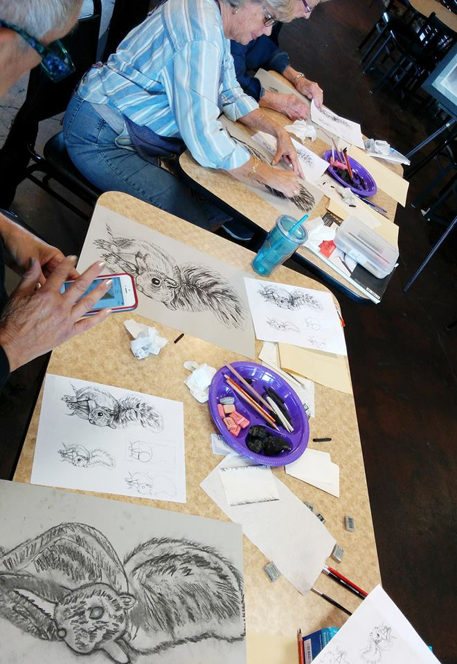"""From our """"Messin' With Charcoal"""" Workshop taught by Jill Crowe"""