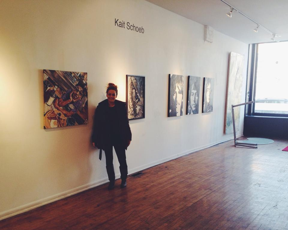 Kait recently had her own solo art exhibit gallery at NYCH gallery this January through February. She was the first female artist to have her own show at the gallery as well as it being her first time in Chi- Town! Check out the details  here !