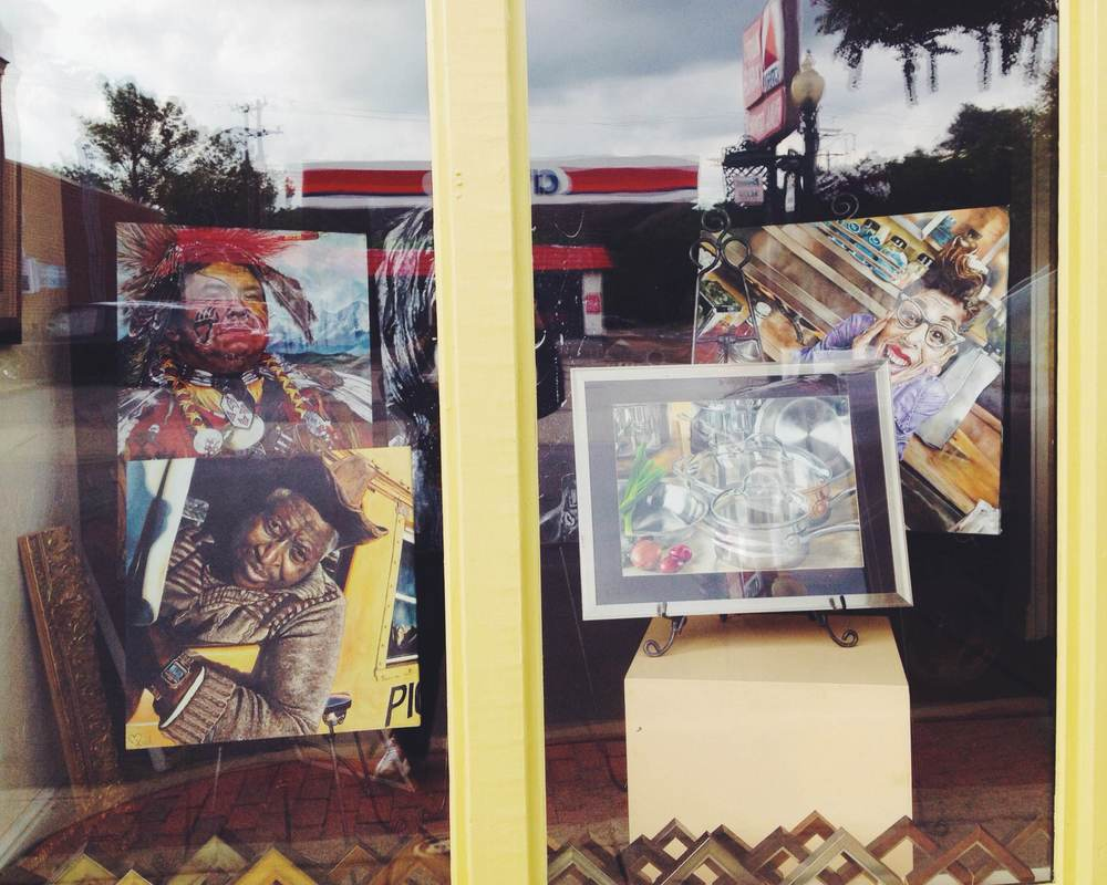 Front Window Display at Sewickley Gallery and Framing