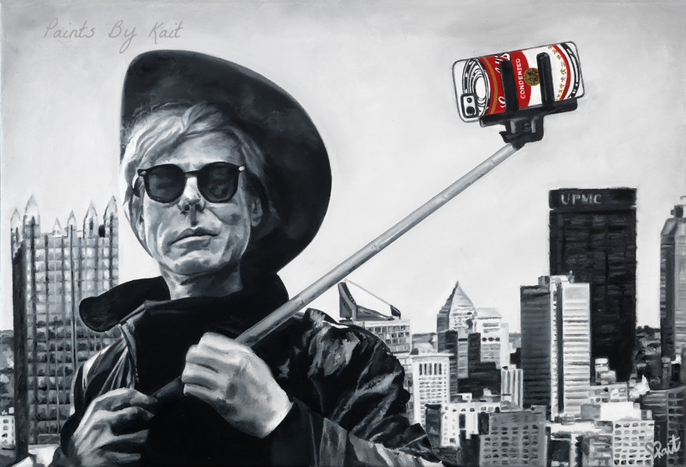 Andy Warhol Painting artwork Pittsburgh artist Kait Schoeb