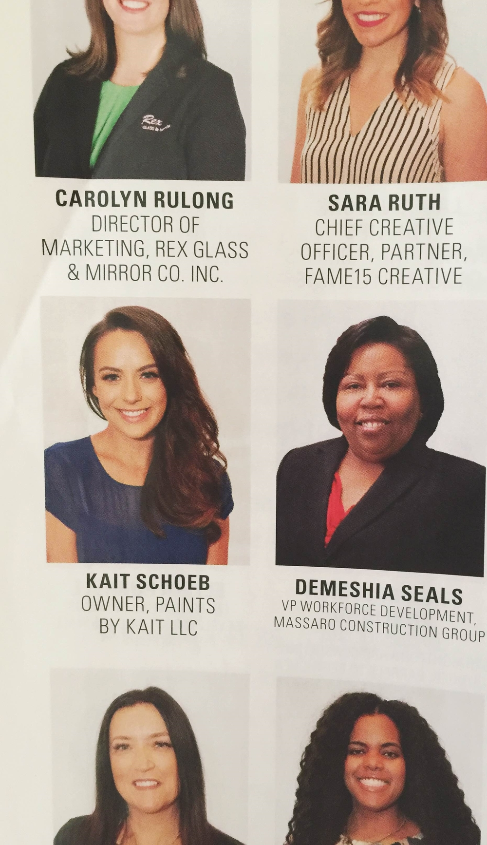 Kait in Whirl Magazine's May issue women in business class of 2016