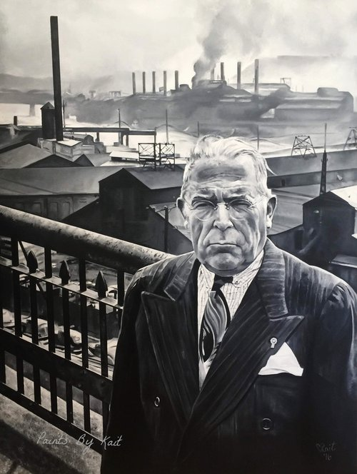 The final product! David L. Lawrence with a steel mill backdrop. Can you get more Pittsburgh than that?