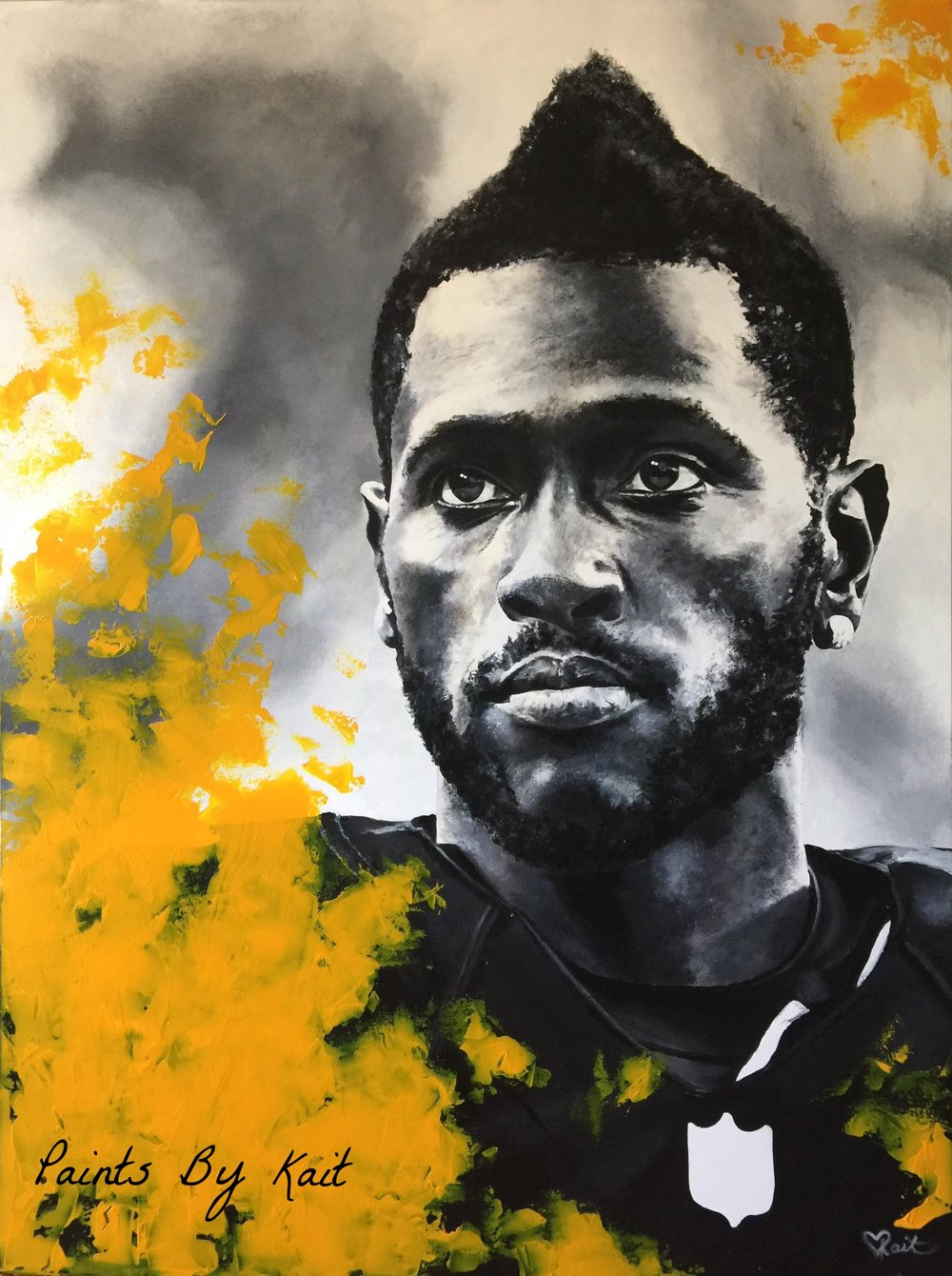 """84"" Antonio Brown Acrylic on Canvas 36inx48in"