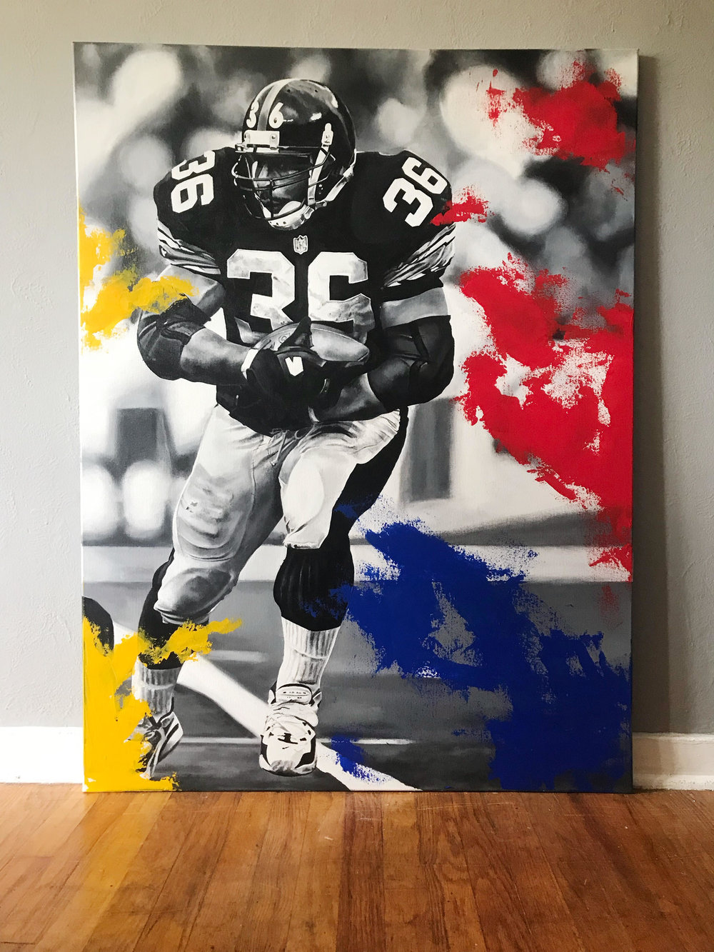 """36"" 3ftx4ft Acrylic on canvas"