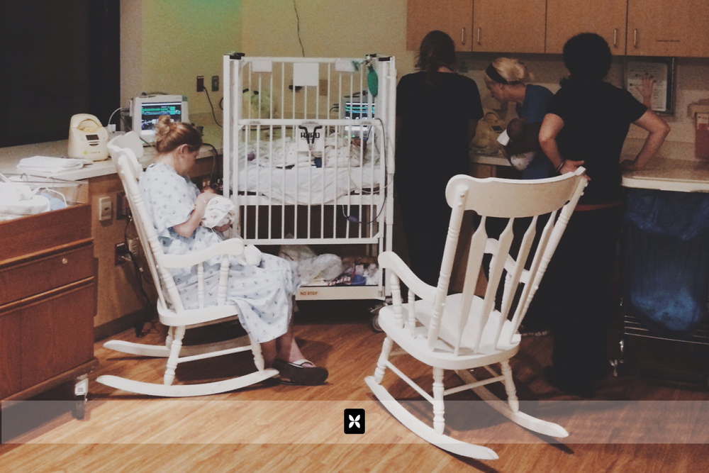 The twins occupy a crib and a back corner in the NICU. The nurses know us well and many of them have gone out of their way to help us, instruct us and give us advice on taking care of our kiddos.