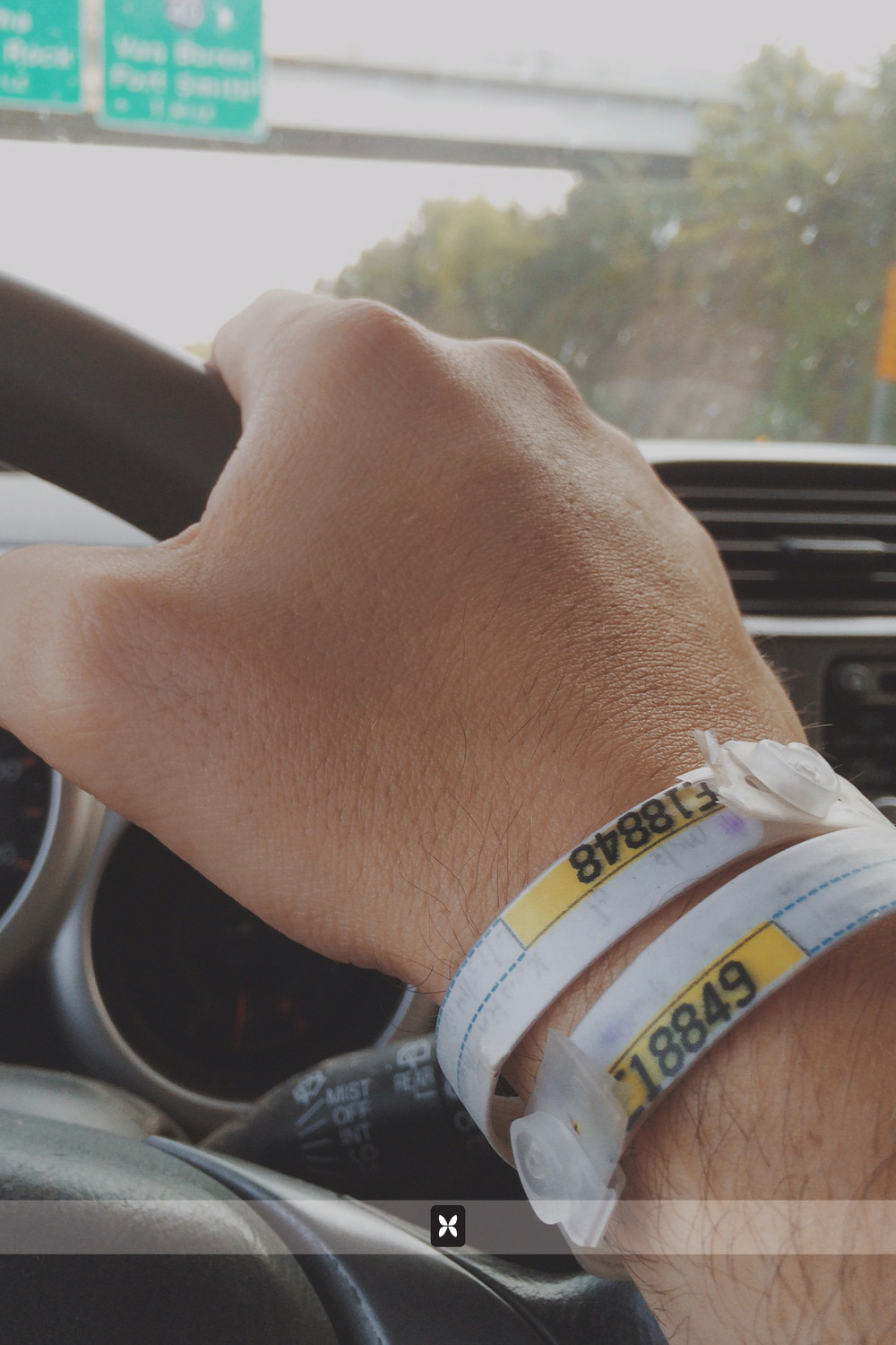 These two wristbands are constant reminders of what I have to look forward to upon my return.