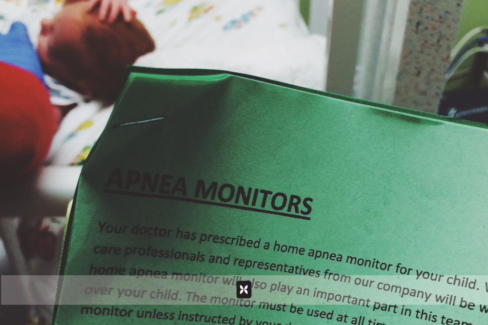 Weston has been prescribed a heart monitor for his Apnea episodes. Aside from passing a carseat test, he has to go 72 hours without having an Apnea episode before he can be discharged.