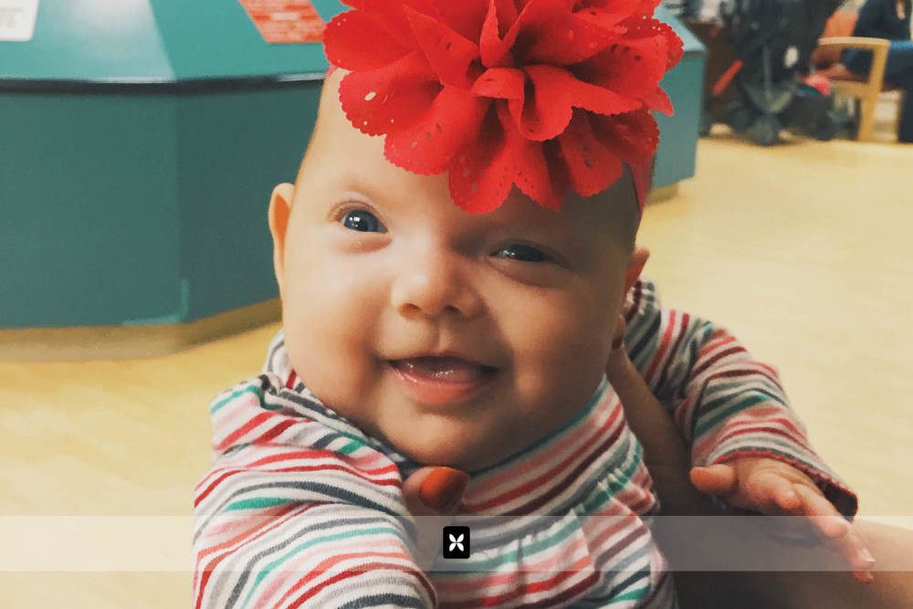 Sweet Summer has a major surgery scheduled for 2015. We found out recently that she has Craniosynestosis. Fortunately, it is not affecting the growth of her brain, just the shape of her head. Summer always finds a reason to smile, even in the waiting rooms of the hospital.
