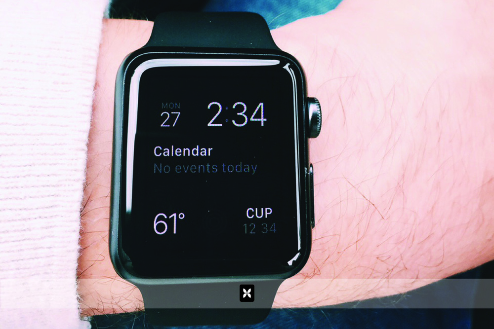 The watch automatically sets itself via your phone. The time, date, current temperature and calendar functions were there from the get-go. The watch face is customizable so that the information shown and the design of the face itself are changeable.