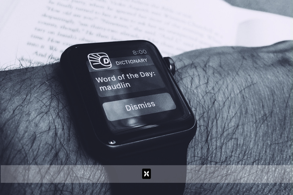 "Early the next morning while enjoying a cup of coffee, my watch chimes and notifies me of the ""word of the day"". This is a feature made possible by an app on my iPhone and has now, been pushed to my watch. It seems as though there is a notification for everything. This is one that I'll probably keep on, simply because I love new words. Some of the other ones will definitely be shut off."