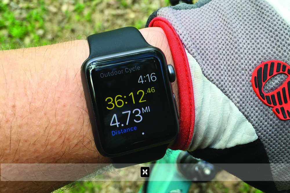 I've used the watch on multiple exercise routines. The one I'm most excited about however, is the cycling function. Not only does it track my heart rate, mileage, calories burned and time, it also wirelessly controls music on my iPhone which I conveniently keep in my cycling backpack. You can also store up to 1gb of music on the watch itself and connect wireless headphones to it.
