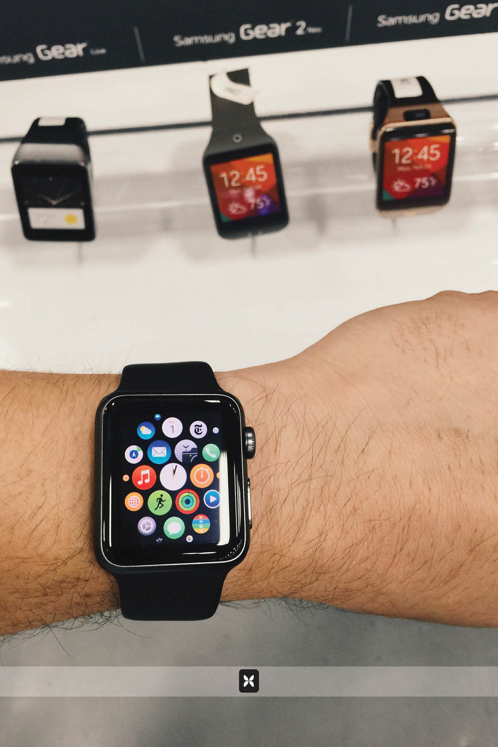The Apple Watch compared to a few other smart watches.