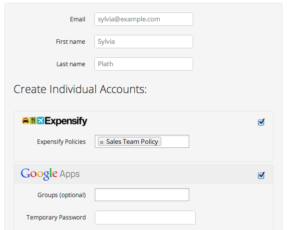 Adding a new user to Expensify