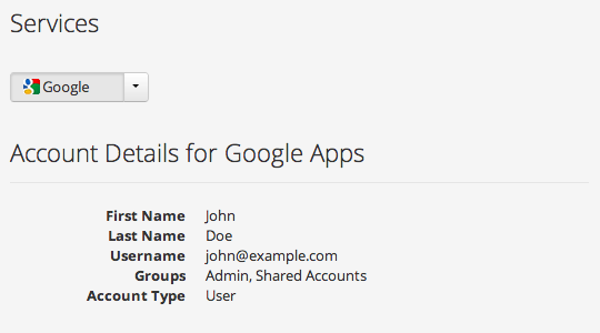 In addition to adding users to groups, clicking on any user shows the Google and Box groups to which they already belong.